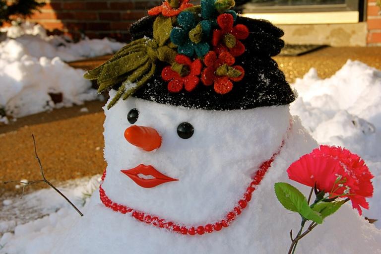 snow lady
