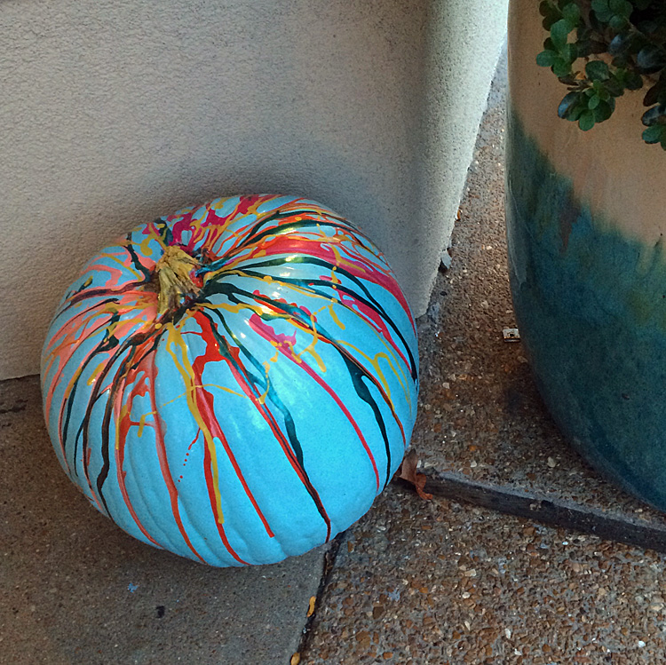 colored pumpkin