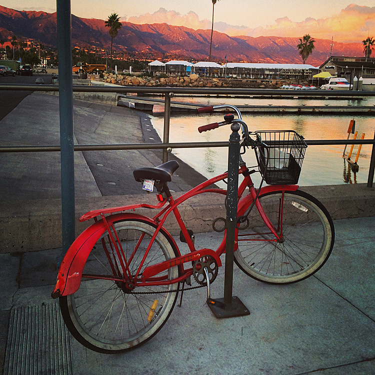 bike at sunset