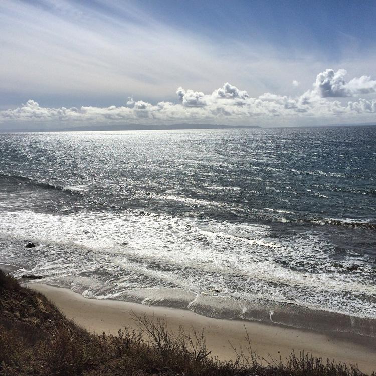 ocean from bluffs